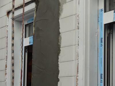 Fachadas Cantabria Reparación de patio con fibra geotextil
