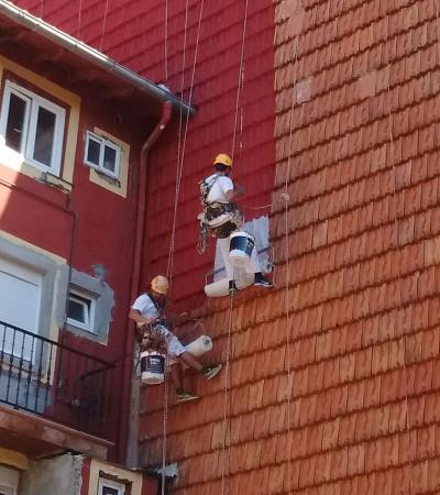 Fachadas Cantabria Fibra geotextil