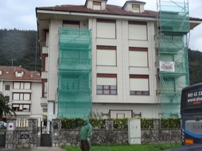 Fachadas Cantabria Paseo del Brusco en Noja